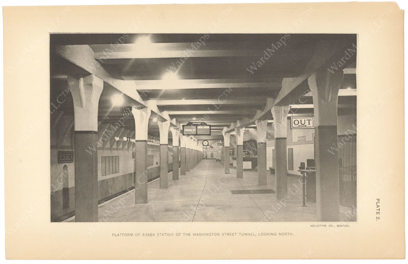 BTC Annual Report 15, 1909 Plate 02: Essex Station Platform
