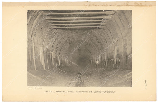 BTC Annual Report 17, 1911 Plate 02: Beacon Hill Tunnel, Looking SE