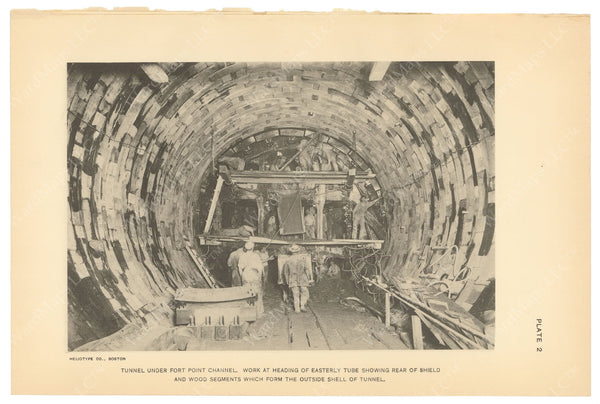 BTC Annual Report 21, 1915 Plate 02: Tunnel Under Fort Point Channel, East Tube