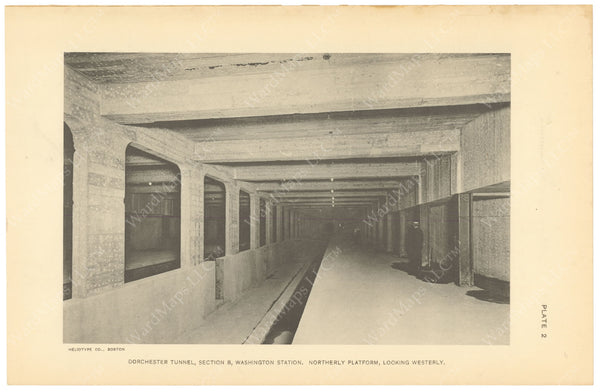 BTC Annual Report 20, 1914 Plate 02: Washington Station Northbound Platform