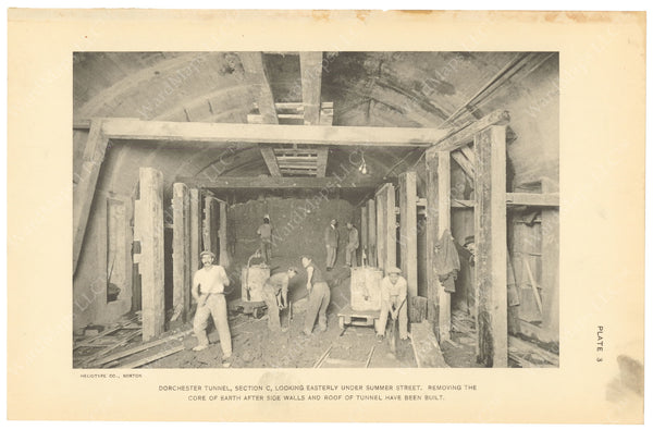 BTC Annual Report 20, 1914 Plate 03: Tunnel Excavation Under Summer Street