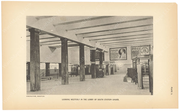 BTC Annual Report 23, 1917 Plate 03: South Station Under, Lobby