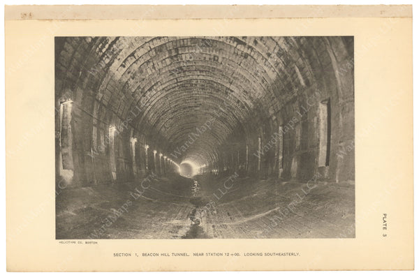 BTC Annual Report 17, 1911 Plate 03: Beacon Hill Tunnel