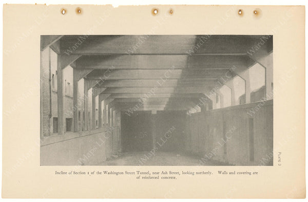 BTC Annual Report 11, 1905 Plate 03: Ash Street Incline - Washington Street Tunnel