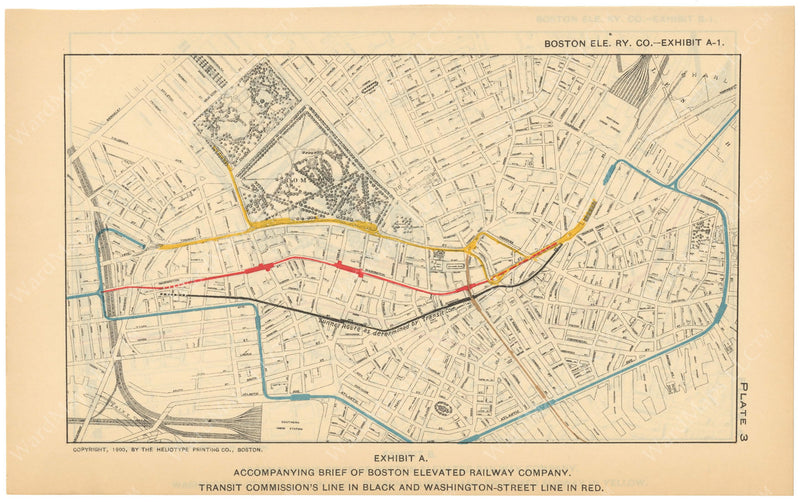 BTC Annual Report 10, 1904 Plate 03: Mapping the Washington Street Tunnel