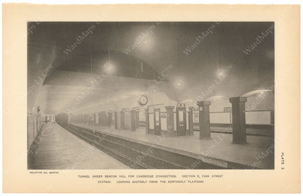 BTC Annual Report 18, 1912 Plate 03: Park Street Station Under