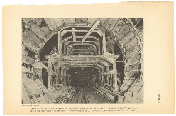 BTC Annual Report 21, 1915 Plate 03: Tunnel Under Fort Point Channel, East Tube
