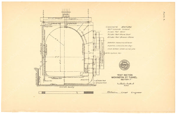 BTC Annual Report 12, 1906 Plate 04: Tunnel Test Section