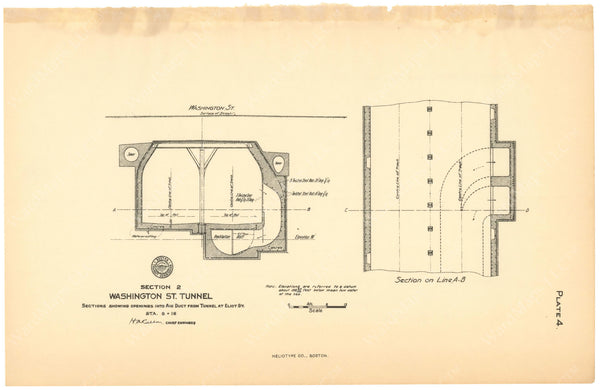 BTC Annual Report 12, 1906 Plate 04: Washington Street Tunnel Air Duct