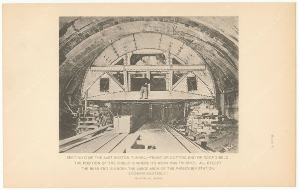 BTC Annual Report 09, 1903 Plate 04: East Boston Tunnel, Roof Shield with Work Complete