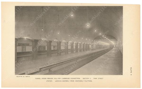 BTC Annual Report 18, 1912 Plate 04: Park Street Station Under