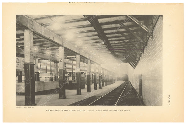 BTC Annual Report 21, 1915 Plate 04: Park Street Station Enlargement
