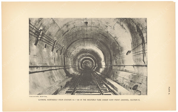 BTC Annual Report 23, 1917 Plate 04: Fort Point Channel Tunnel, Western Tube