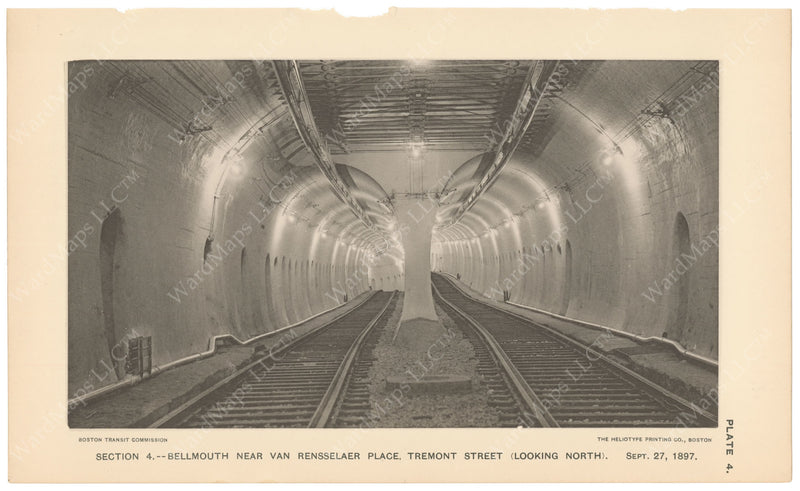 BTC Annual Report 04, 1898 Plate 04: Subway Bellmouths Looking North