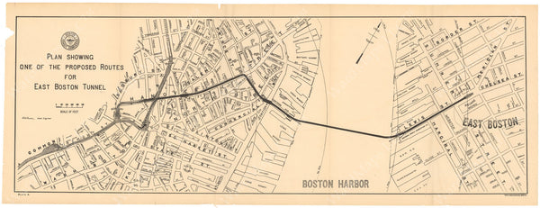 BTC Annual Report 05, 1899 Plate 04: East Boston Tunnel Route