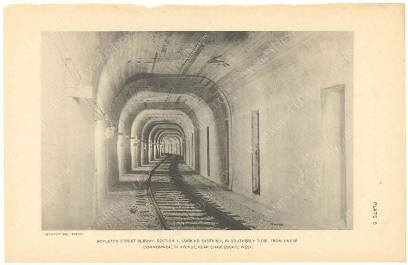 BTC Annual Report 20, 1914 Plate 05: Boylston Street Subway