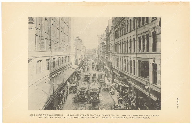 BTC Annual Report 19, 1913 Plate 05: Summer Street Traffic