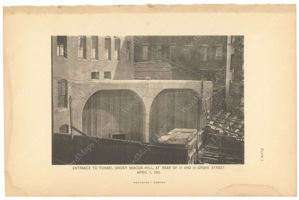BTC Annual Report 16, 1910 Plate 05: Beacon Hill Tunnel Portal