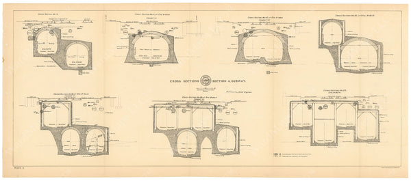 BTC Annual Report 04, 1898 Plate 05: Subway Cross Sections, Section 4