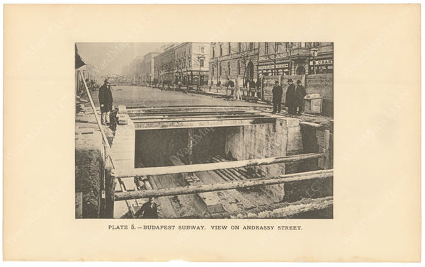 BTC Annual Report 02, 1896 Plate 05: Budapest Subway, View on Andrassy Street