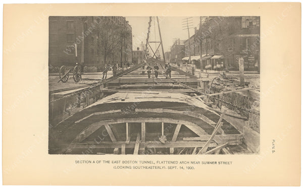 BTC Annual Report 06, 1900 Plate 05: East Boston Tunnel, Arch Near Sumner Street