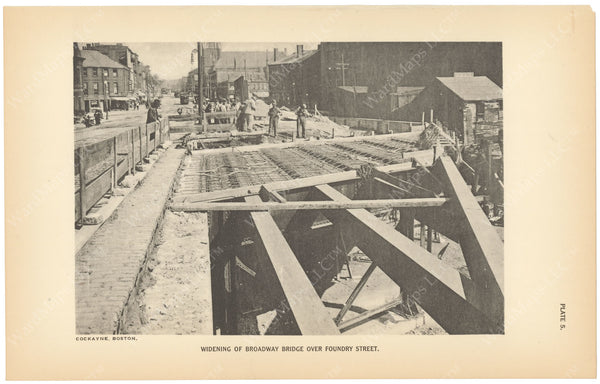 BTC Annual Report 23, 1917 Plate 05: Widening of Broadway Bridge