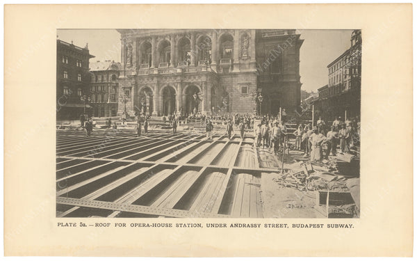 BTC Annual Report 02, 1896 Plate 05A: Budapest Subway, Opera Station Roof