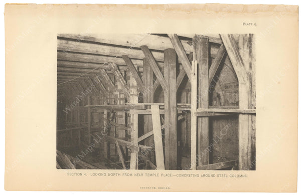 BTC Annual Report 12, 1906 Plate 06: Washington Street Tunnel Columns