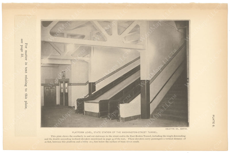 BTC Annual Report 15, 1909 Plate 06: Escalators at State Station