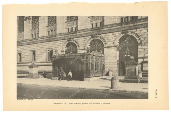 BTC Annual Report 21, 1915 Plate 06: Copley Station Head House at Library