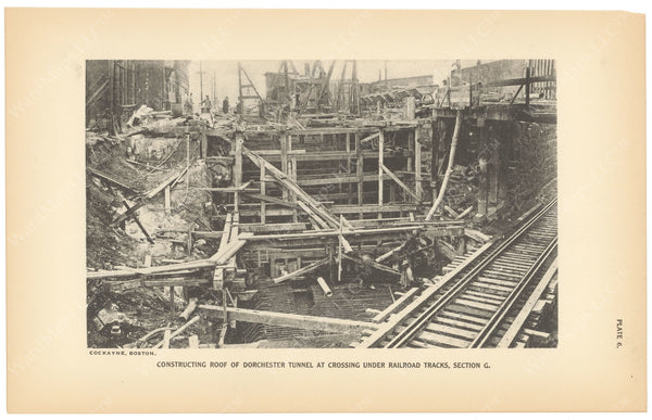 BTC Annual Report 23, 1917 Plate 06: Dorchester Tunnel Extension at Railroad Tracks