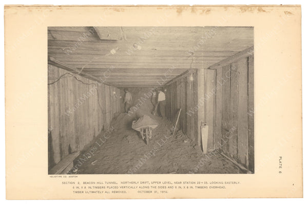BTC Annual Report 17, 1911 Plate 06: Beacon Hill Tunnel, North Upper Drift