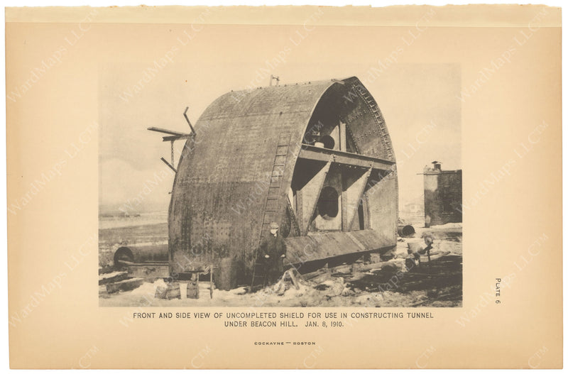 BTC Annual Report 16, 1910 Plate 06: Beacon Hill Tunnel, Shield
