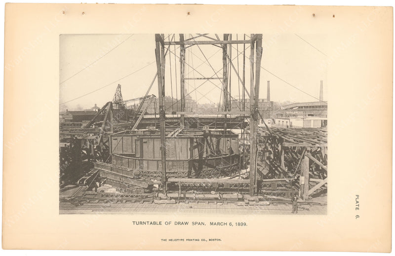 BTC Annual Report 05, 1899 Plate 06: Charlestown Bridge, Turntable