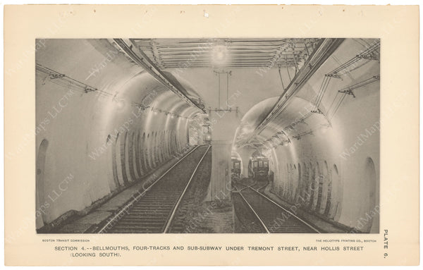 BTC Annual Report 04, 1898 Plate 06: Subway Bellmouths Looking South