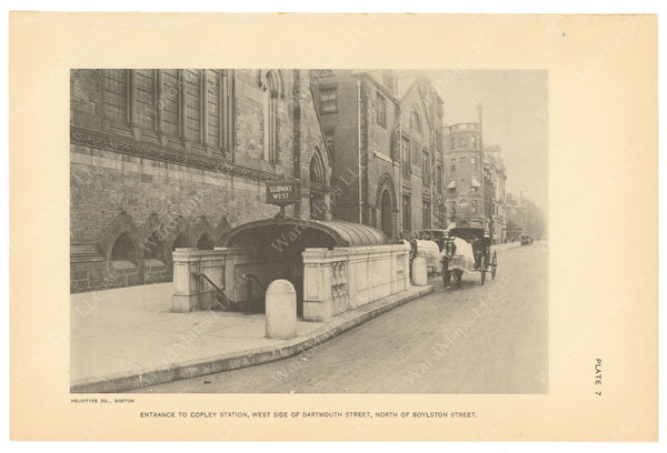 BTC Annual Report 21, 1915 Plate 07: Copley Station, Westbound Entrance