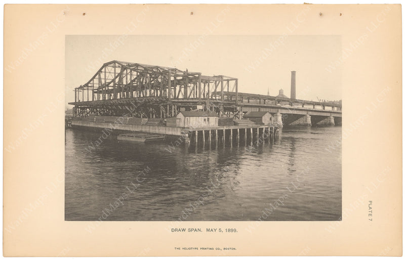 BTC Annual Report 05, 1899 Plate 07: Charlestown Bridge Draw Span