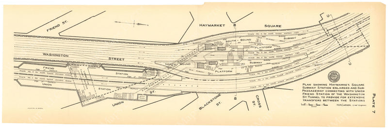 BTC Annual Report 15, 1909 Plate 07: Friend-Union and Haymarket Square Stations