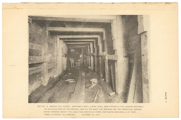 BTC Annual Report 17, 1911 Plate 07: Beacon Hill Tunnel, North Drift