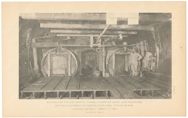 BTC Annual Report 09, 1903 Plate 07: East Boston Tunnel, Lower Air Locks
