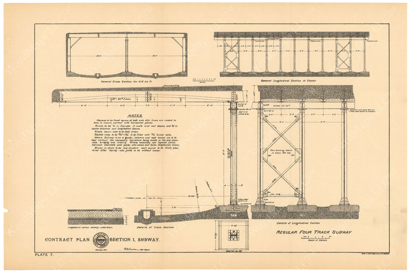 BTC Annual Report 04, 1898 Plate 07: Regular Four Track Subway