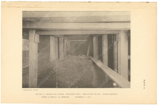BTC Annual Report 17, 1911 Plate 08: Beacon Hill Tunnel, South Drift