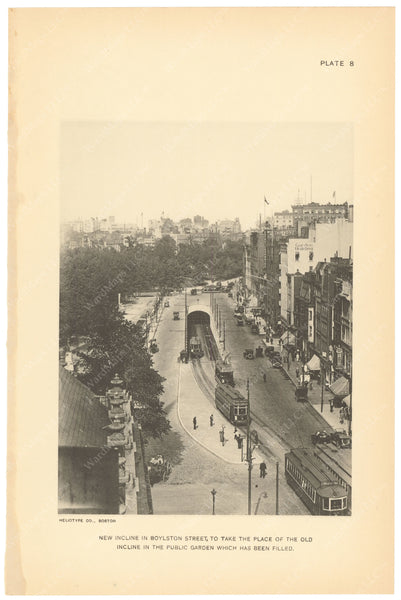 BTC Annual Report 21, 1915 Plate 08: Boylston Street Incline