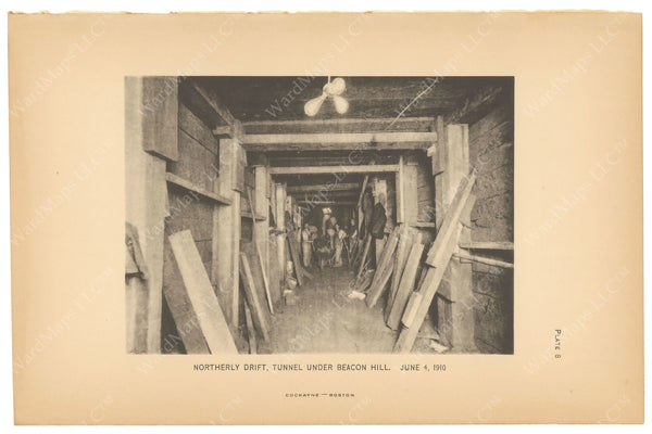BTC Annual Report 16, 1910 Plate 08: Beacon Hill Tunnel, Northern Drift