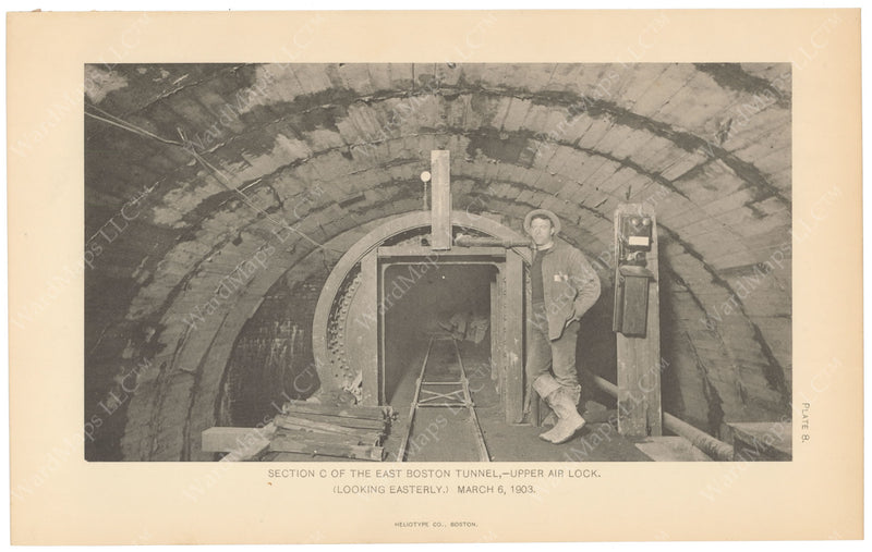 BTC Annual Report 09, 1903 Plate 08: East Boston Tunnel, Upper Air Lock