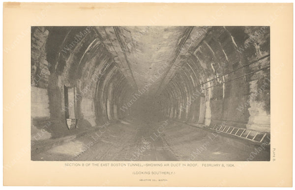 BTC Annual Report 10, 1904 Plate 08: East Boston Tunnel Showing Duct