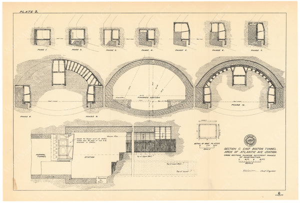 BTC Annual Report 09, 1903 Plate 09: Arch of Atlantic Avenue Station