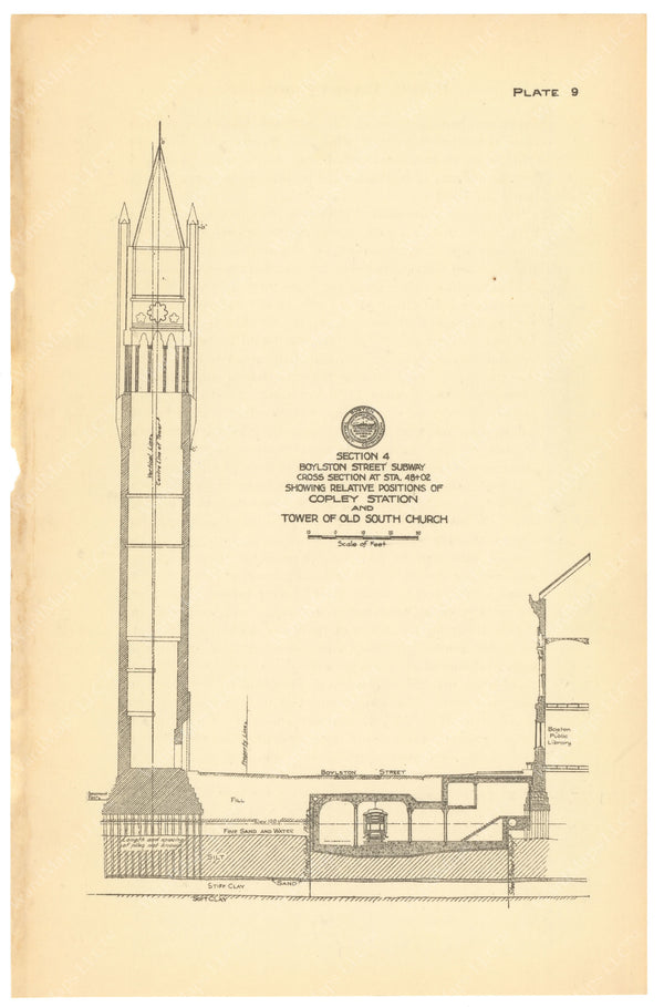 BTC Annual Report 20, 1914 Plate 09: Copley Station Cross Section