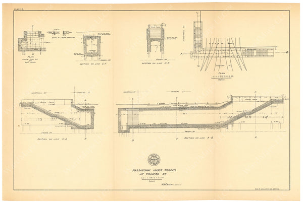 BTC Annual Report 06, 1900 Plate 09: Travers Street Pedestrian Passage