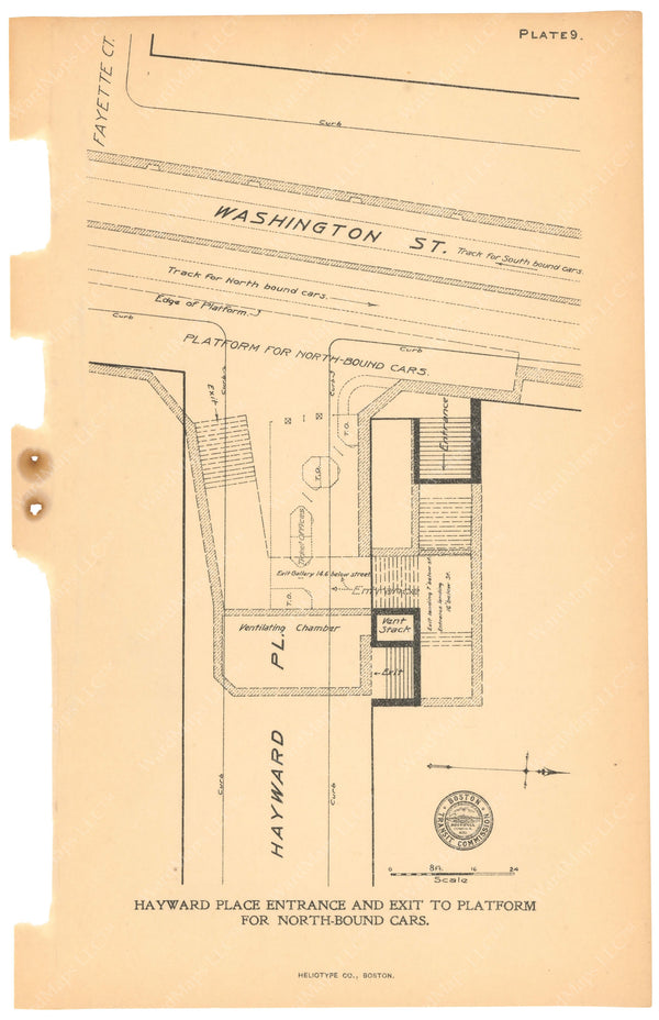 BTC Annual Report 11, 1905 Plate 09: Essex Station, Hayward Place Entrance